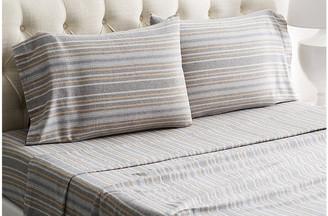 Belle Epoque Herringbone Flannel Sheet Set - Gray