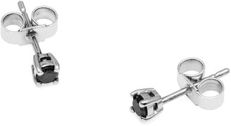 Myia Bonner 9K White Gold & Black Diamond Stud Earrings