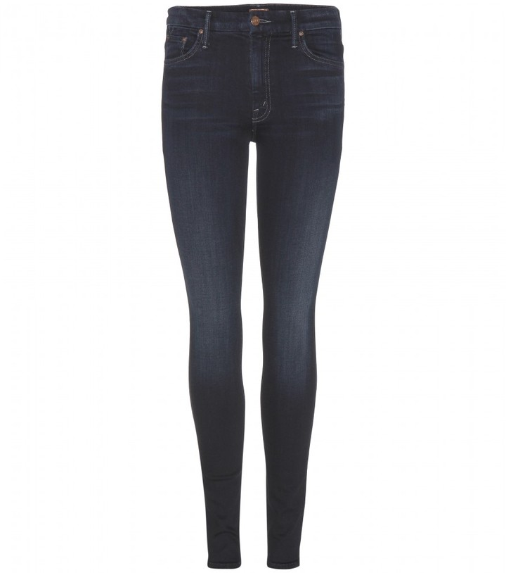 Mother The Looker high-waisted skinny jeans