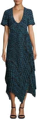 A.L.C. Kylia Plisse Silk Dress