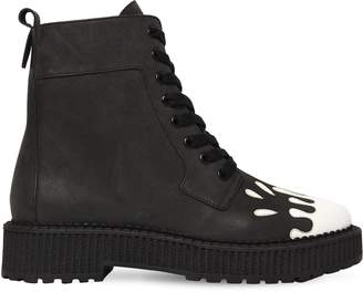 Katy Perry 30mm Hilma Paint Leather Combat Boots