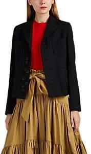 Women's Asymmetric Ten-Button Blazer - Black