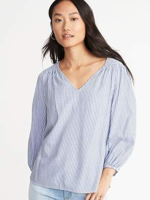 Old Navy Striped Twill Swing Blouse for Women