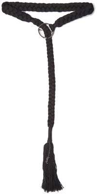 Saint Laurent Braided Tassel Trimmed Belt - Womens - Black