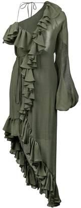 Juan Carlos Obando asymmetric ruffled dress