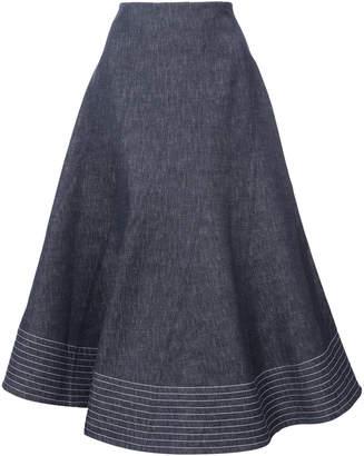 Derek Lam Full Midi Skirt With Diagonal Seams