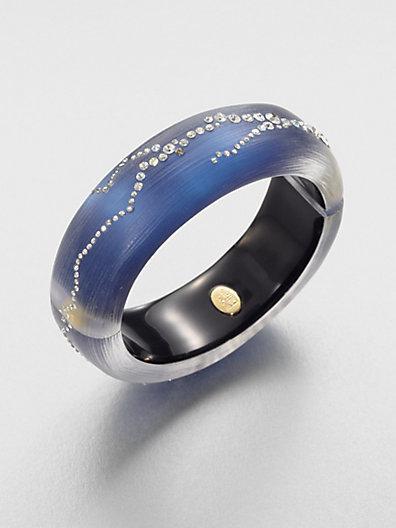 Alexis Bittar Jeweled Lucite Bangle Bracelet