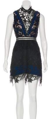 Self-Portrait Embellished Knee-Length Dress