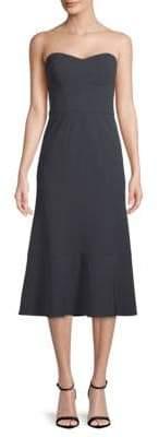 Vera Wang Classic Strapless Midi Dress