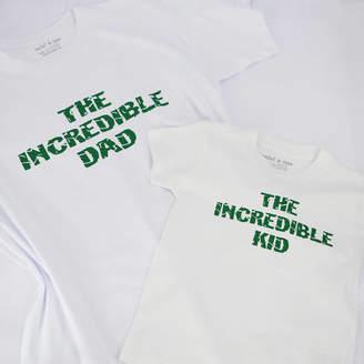 f5dc7959 Rocket & Rose 'Incredible Dad And Kid' Matching T Shirt Set