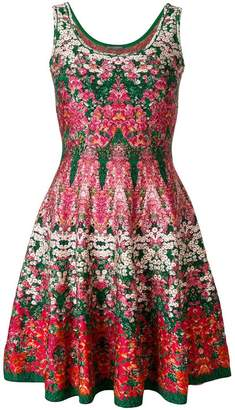 Alexander McQueen kaleidescope floral dress