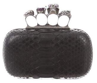 Alexander McQueen Python Knuckle Duster Box Clutch