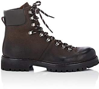 Barneys New York Men's Oiled Suede Hiking Boots - Dk. brown