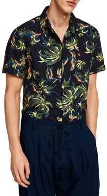 Scotch & Soda Pool Side Regular-Fit Printed Button-Down Shirt