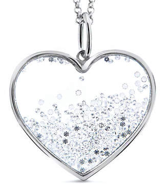 Cosanuova Large Floating Heart Necklace