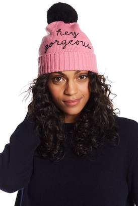 Kate Spade Hey Gorgeous Graphic Beanie