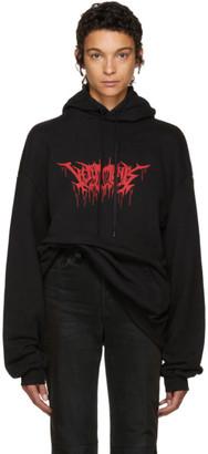 Vetements Black Oversized Metal Logo Hoodie $1,150 thestylecure.com