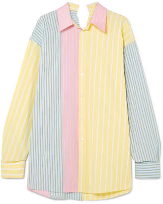 Marni Oversized Striped Cotton Shirt - Yellow
