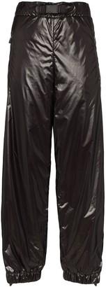 Moncler side-stripe nylon trousers