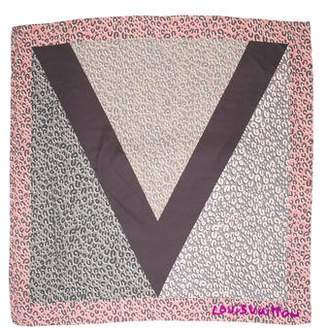 Louis Vuitton Leopard V Silk Scarf
