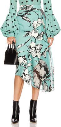 Silvia Tcherassi Aretha Skirt in Floral Aqua   FWRD