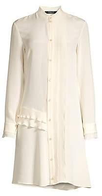 Derek Lam Women's Silk Ruffled Shirtdress