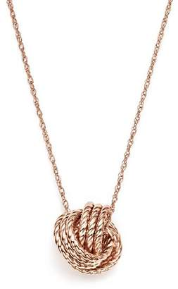 "Bloomingdale's 14K Rose Gold Twisted Love Knot Necklace, 18"" - 100% Exclusive"