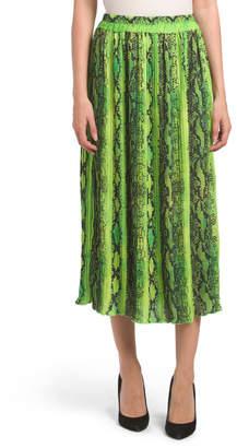 Made In Italy Snake Print Skirt