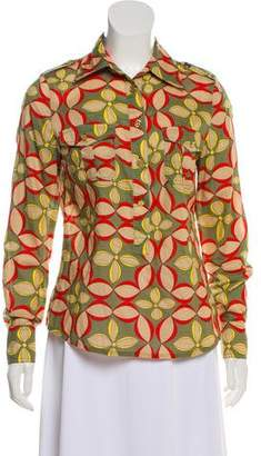 Tory Burch Printed Collared Blouse