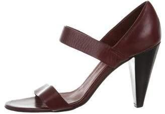 Les Prairies de Paris Leather Slingback Sandals