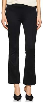Helmut Lang Women's High-Rise Compact Knit Flared Pants - Black