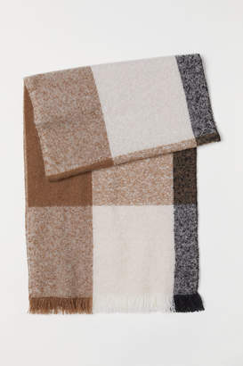H&M Color-block Scarf - Beige