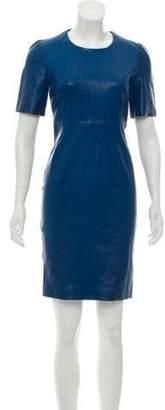 Calvin Klein Collection Short Sleeve Mini Dress Blue Short Sleeve Mini Dress