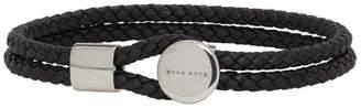 BOSS Black Braided Double Wrap Bertold Bracelet