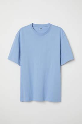 H&M Crew-neck T-shirt Loose fit - Blue