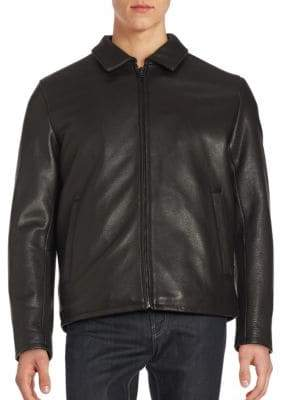 Vince Camuto Solid Leather Jacket