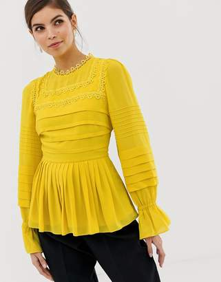 Ted Baker Roobee pintuck detailed blouse