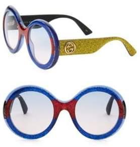 Gucci 53MM Multicolor Glitter Round Sunglasses