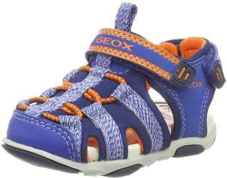 Geox Boy's B Sandal AGASIM BOY Athletic Sandals, Blue/Orange