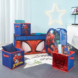 Spiderman Storage Set (Trunk, 2 pack cubes, Sequin Cube and Hamper)