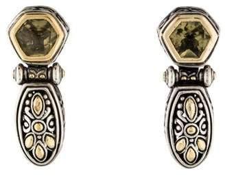 John Hardy Citrine Earclip Earrings