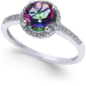 Macy's Mystic Topaz (1-1/2 ct. t.w.) and Diamond (1/8 ct. t.w.) Ring in 14k White Gold