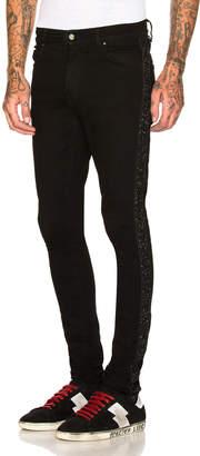 Amiri Glitter Strip Stack Jean