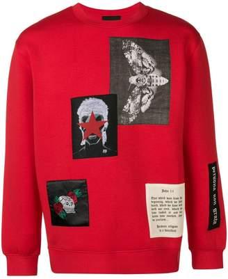 John Richmond Skull print jumper