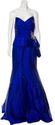Jovani Embellished Satin Gown