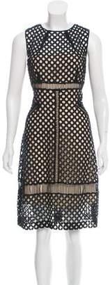 Lela Rose Crochet Sleeveless Dress