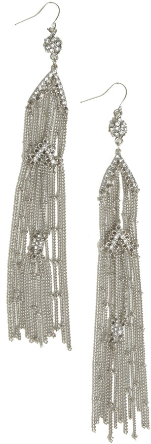 Arden B Small Pendant Fringe Earrings