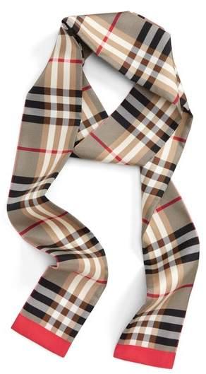 Burberry Castleford Check Silk Skinny Scarf
