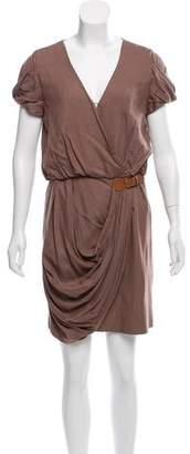 Tibi Buckle-Accented Mini Dress