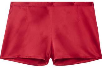 La Perla Carmine Silk-satin Pajama Shorts